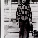 Image of J.W. Sherbinin and dog